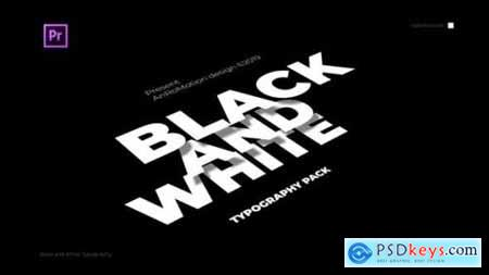 Videohive Black And White Titles And Typography 23825394