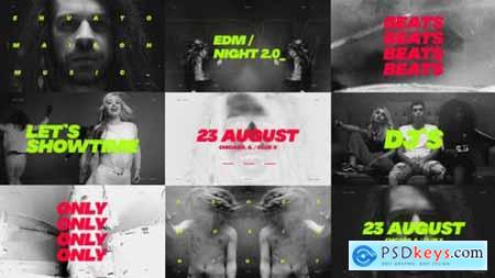 Videohive Music Event Promo Dynamic Opener Party Invitation EDM Festival Night Club 23695182
