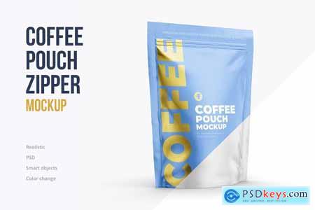 Coffee pouch mockup. Half side 4129535