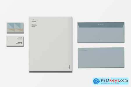 Color Block Stationery Template 4182270