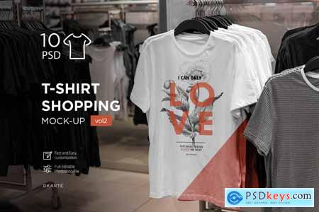 T-Shirt Shopping Mock-Up Vol.2 4062124