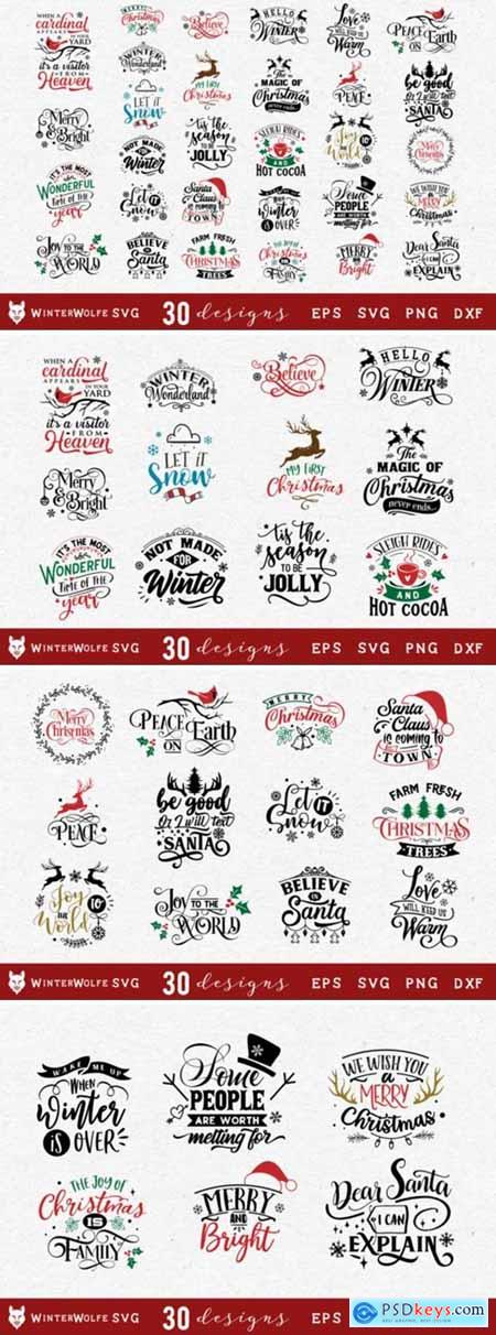 Christmas Bundle SVG 30 Designs 1838614