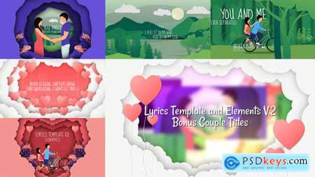 VideoHive Lyrics Template and Elements V.2 Paper Cut Concepts 24487049