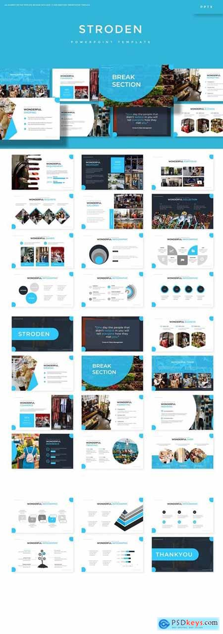 Stroden Powerpoint, Keynote and Google Slides Templates
