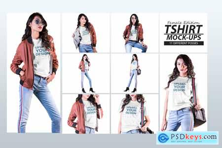 Female t-shirt Mockup-V-2-007 4180828