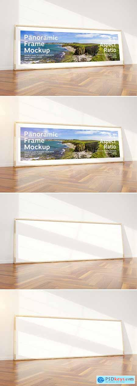 Horizontal Frame Mockup Leaning on Wall 293877175