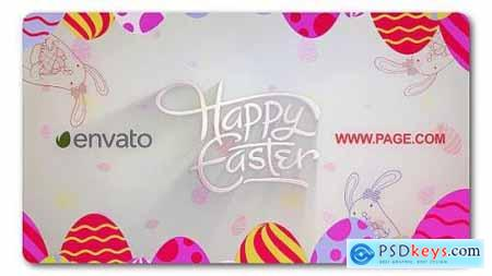 Videohive Happy Easter Logo Reveal 19714652