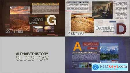 Videohive Alphabet of History Slideshow 15810439