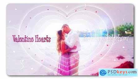 Videohive Valentine Hearts Parallax Slideshow 19301008