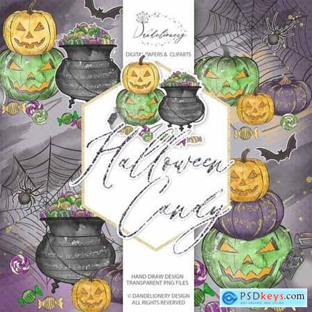 Cute Halloween design and digital paper pack