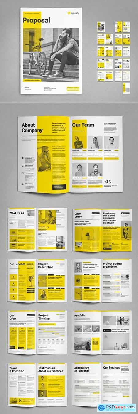 Proposal Layout with Yellow Accents 295114387