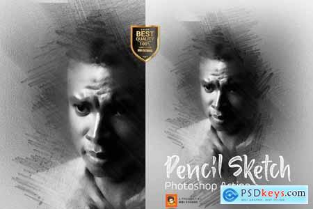 Pencil Sketch Photoshop Action 3278234