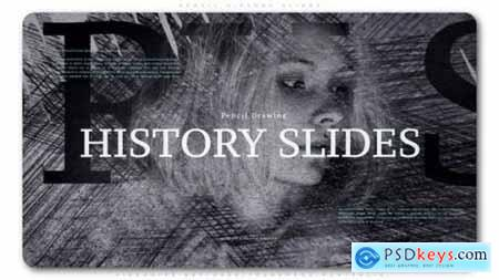 Videohive Pencil History Slides 23737113