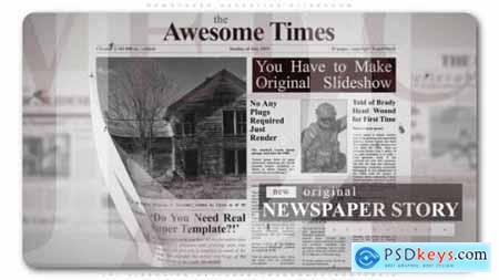 Videohive Newspaper Narrative Slideshow 23753814
