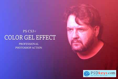 Color Gel Effect - Photoshop Action 4145587