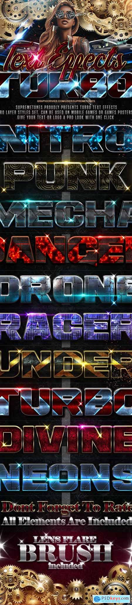 Turbo Photoshop Text Effects 24690464