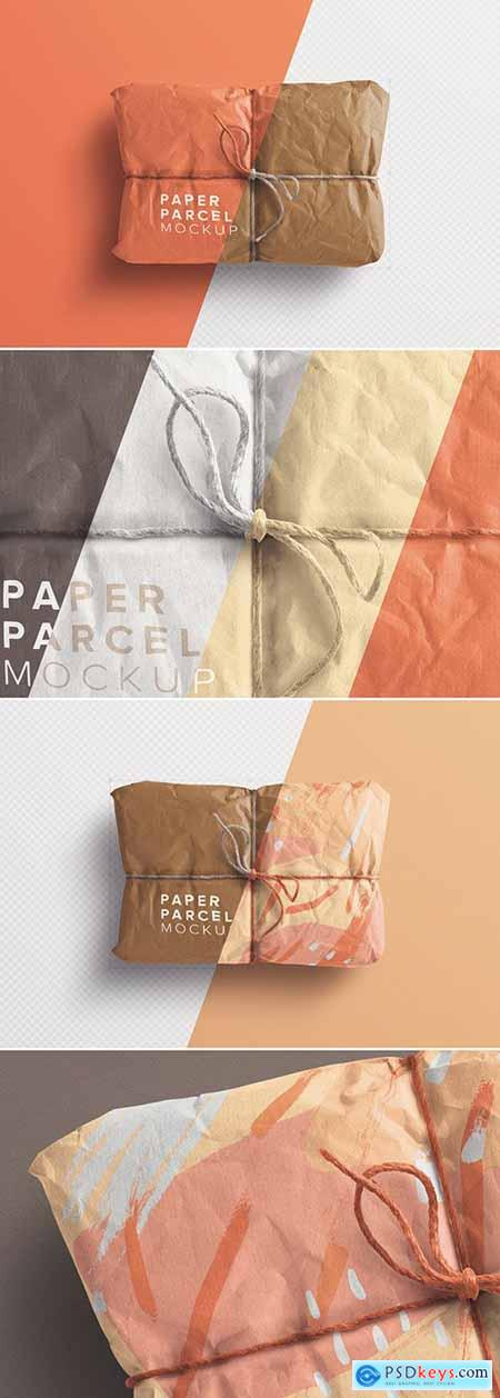 Paper Parcel Mockup with Twine 258201480