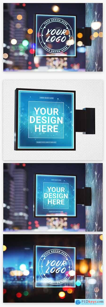 Outdoor Square Sign Mockup 222042140