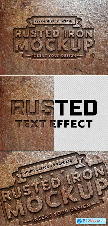 Rusted Metal Text Effect Mockup 291974059