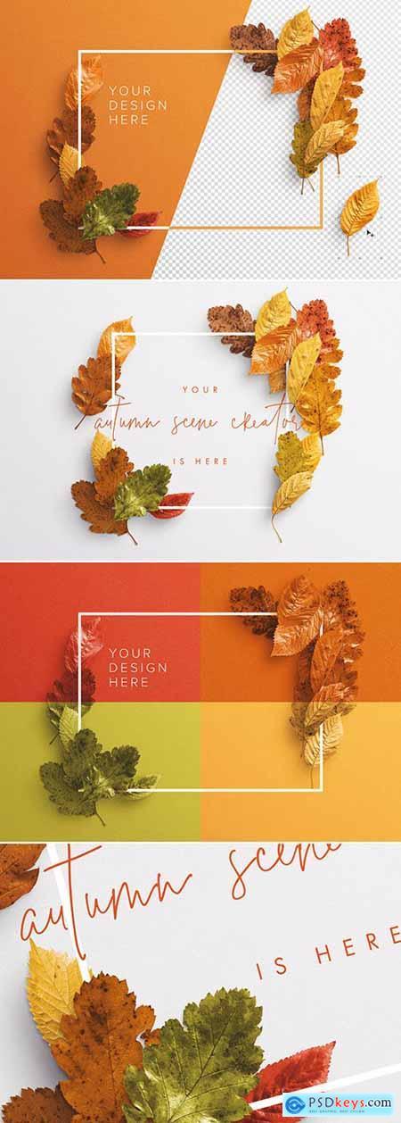 Autumn Leaves Frame Mockup 281699171