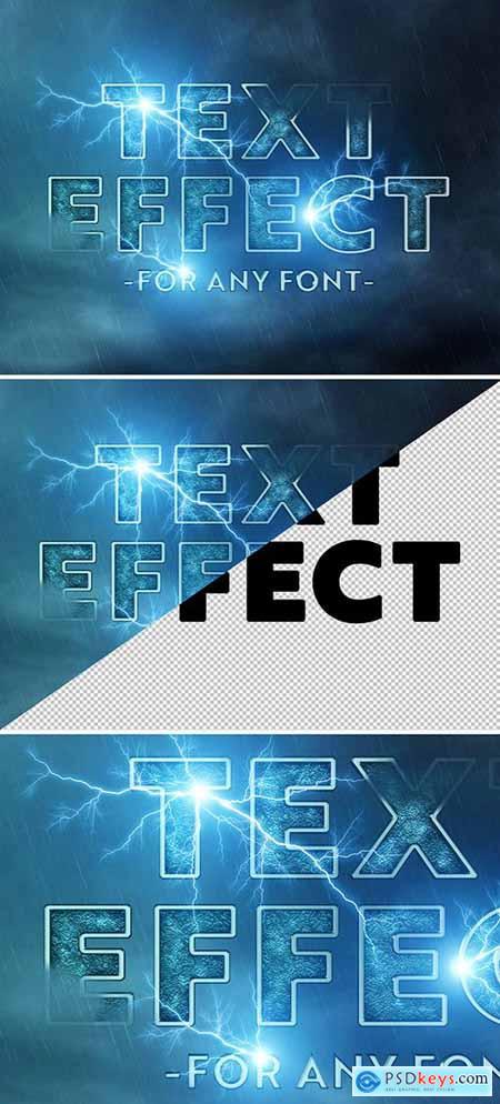 Lightning Storm Text Effect Mockup 289338600