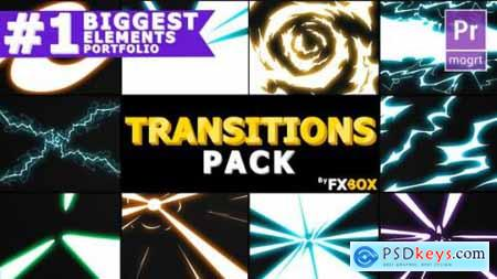 Videohive Handy Electric Transitions Premiere Pro MoGRT 21464119