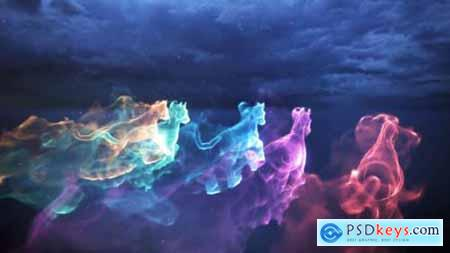 Videohive Horse Particle Trails Logo 24767785