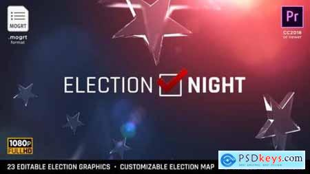 Videohive Election Night 2020 MOGRT for Premiere Pro 22670178