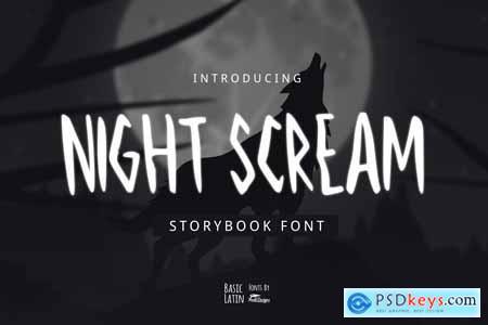 Night Scream Font 4192241