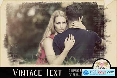 Vintage Text Clipping Masks & Tut 3752347