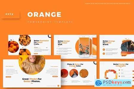 Orange Powerpoint, Keynote and Google Slides Templates