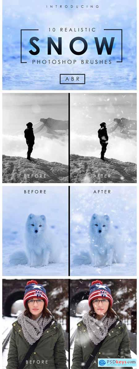10 Realistic Photoshop Snow Brushes 1844989
