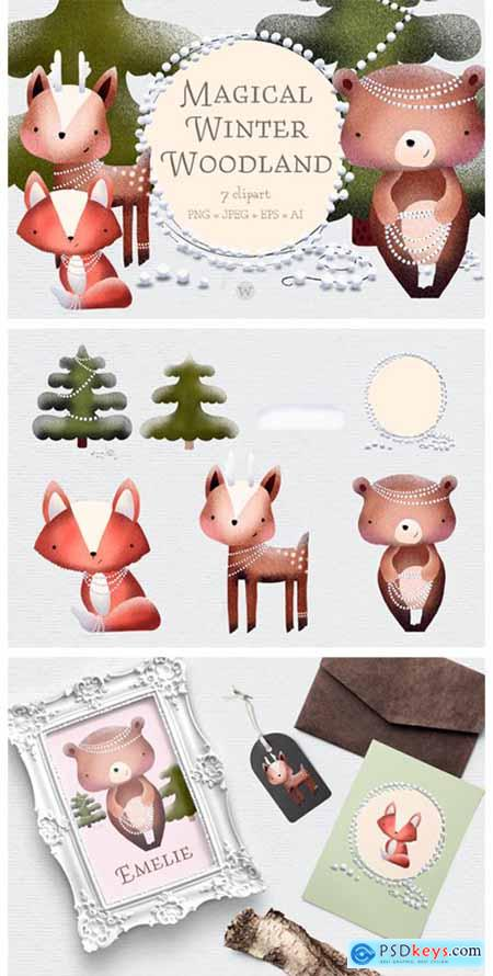 Scandinavian Woodland Animal Clipart 1844916