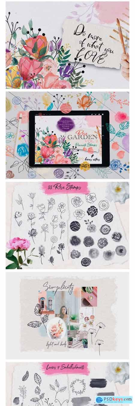 Rose Garden Procreate Stamps VOL. 2 1782278