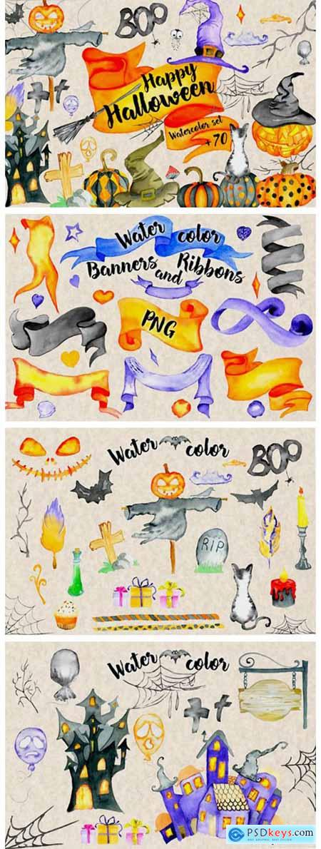 Happy Halloween Watercolor Set 1782043