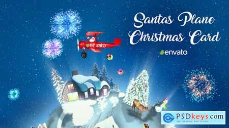 Videohive Santas Plane Christmas Card After Effects Template 22772820