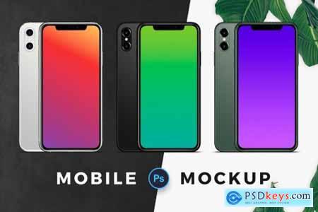 Three Color Mobile Mockup