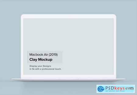 Clay Macbook Air Mockup 1.0