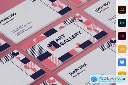 Art Gallery Poster Flyer Business Card Brochure Bifold Trifold