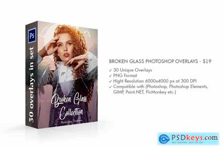 Broken Glass Photoshop Overlays 4147752