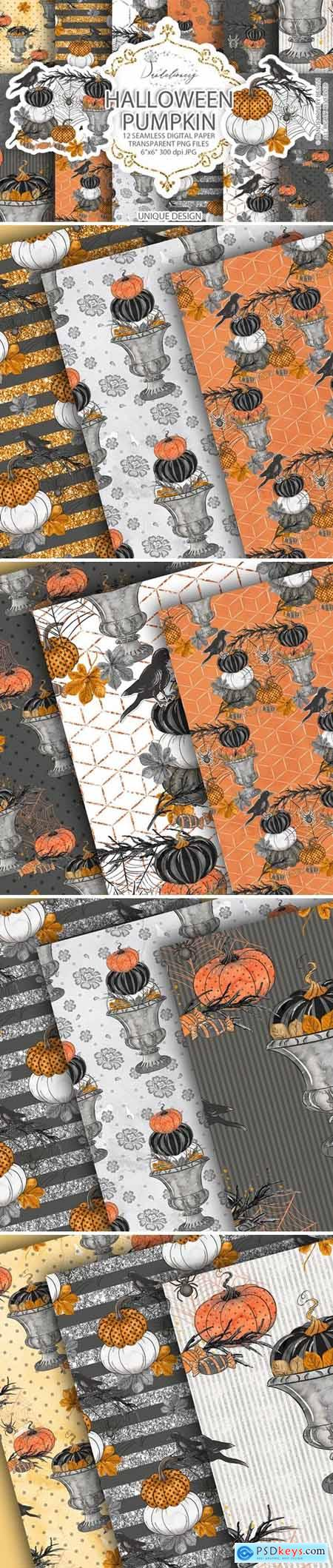 Happy Halloween digital paper pack