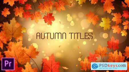 Videohive Autumn Titles Premiere Pro 24823989