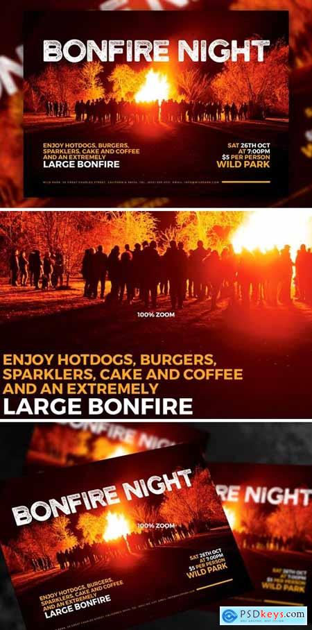 Bonfire Night A5 Flyer