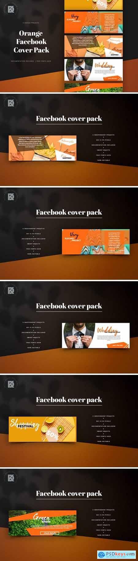 Orange Banners Facebook Pack