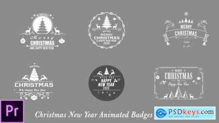 Videohive Christmas New Year Badges Premiere Pro 24822617
