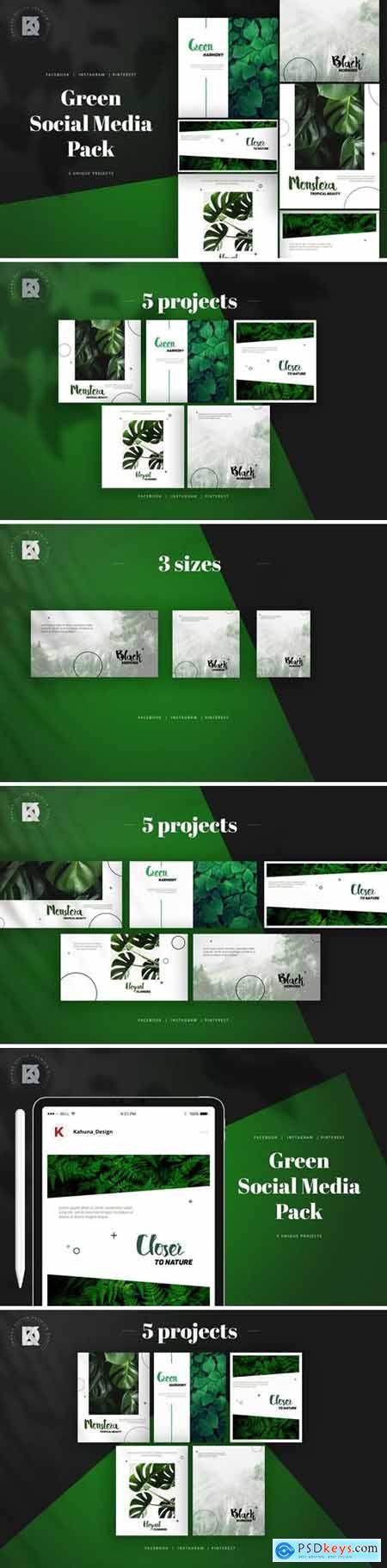 Green Banners Social Media Pack