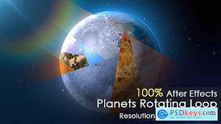 Videohive Planet Rotating 8871014