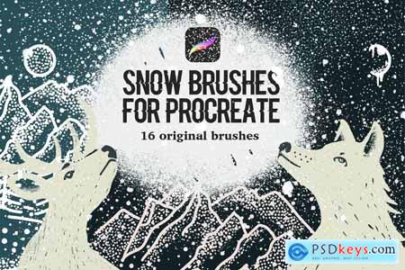 Snow Brushes for Procreate 4215077