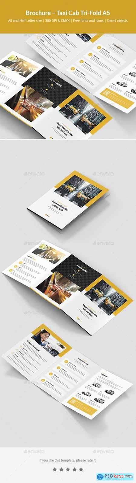 Brochure – Taxi Cab Tri-Fold A5 24821752