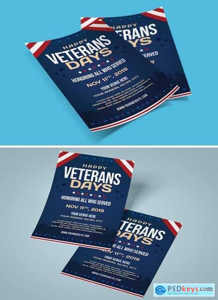 US Veterans Days Flyer